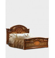 Кровать 2-спальная (1,6 м) (1 спинка — шелкография) без лежака и матраца